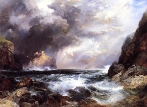Thomas Moran - Tantallon Castle, North Berwick, Scotland