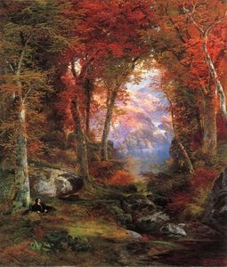 Thomas Moran - The Autumnal Woods (aka Under the Trees)
