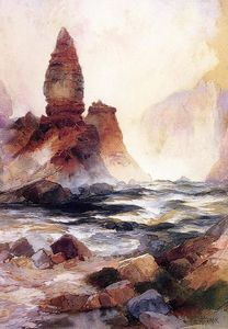 Thomas Moran - Tower Falls and Sulphur Rock, Yellowstone