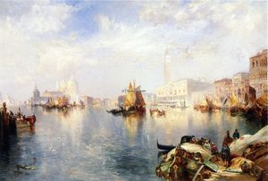 Thomas Moran - Venice, The Grand Canal with The Doge's Palace