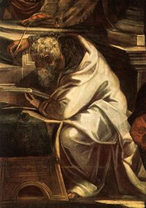 Tintoretto (Jacopo Comin) - Christ before Pilate detail1