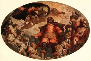 Tintoretto (Jacopo Comin) - Glorification of St. Roch