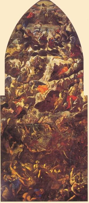 Last Judgement by Tintoretto (Jacopo Comin) (1518-1594, Italy) | Oil Painting | WahooArt.com