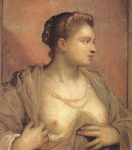 Tintoretto (Jacopo Comin) - Portrait of a Woman Revealing her Breasts