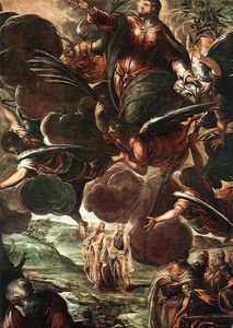 Tintoretto (Jacopo Comin) - The Ascension detail1