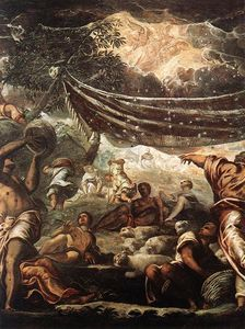 Tintoretto (Jacopo Comin) - The Miracle of Manna detail