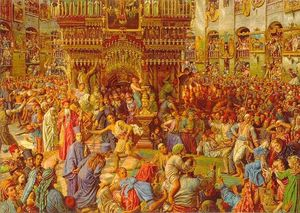William Holman Hunt - The Miracle of the Sacred Fire, Church of the Holy Sepulchre