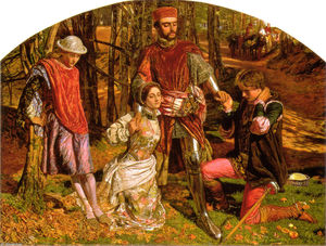 William Holman Hunt - Valentine Sylvia from Proteus
