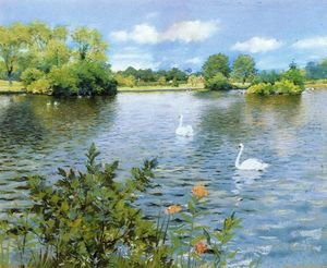 William Merritt Chase - A Long Island Lake