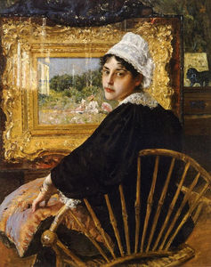 William Merritt Chase - A Study (aka The Artist's Wife)