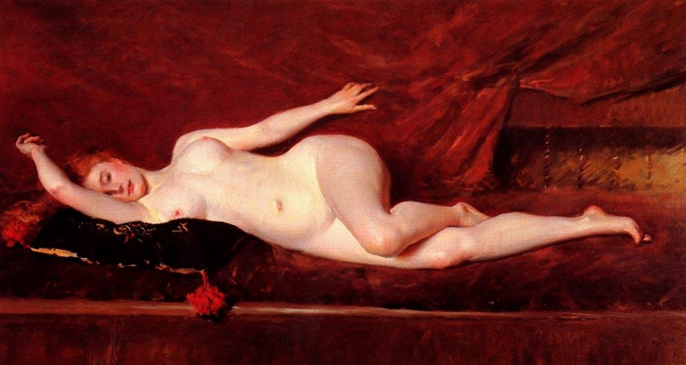 A Study in Curves, 1890 by William Merritt Chase (1849-1916, United States)