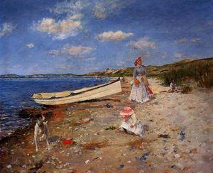 William Merritt Chase - A Sunny Day at Shinnecock Bay