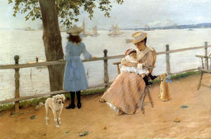 William Merritt Chase - Afternoon by the Sea (aka Gravesend Bay)