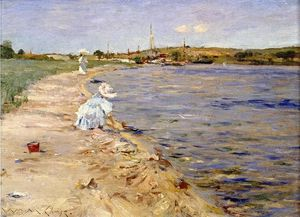 William Merritt Chase - Beach Scene - Morning at Canoe Place