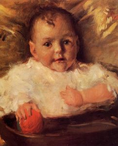 William Merritt Chase - Bobbie, A Portrait Sketch