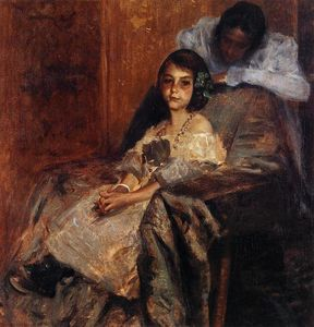 William Merritt Chase - Dorothy and Her Sister