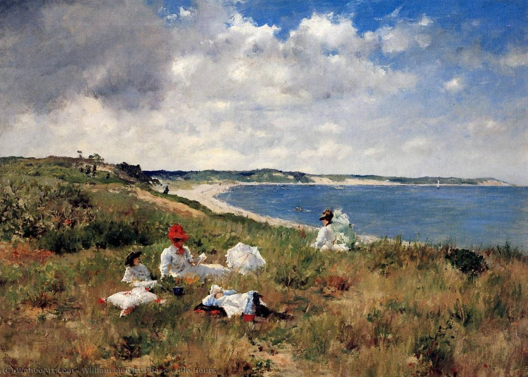Idle Hours, 1894 by William Merritt Chase (1849-1916, United States) | Paintings Reproductions William Merritt Chase | WahooArt.com