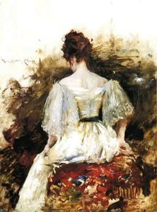William Merritt Chase - Portrait of a Woman - The White Dress