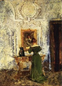 William Merritt Chase - Woman in Green aka Lady in Green