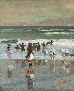 Winslow Homer - Beach Scene