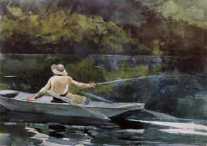 Winslow Homer - Casting the Fly
