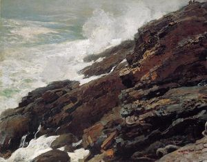 Winslow Homer - High Cliff, Coast of Maine