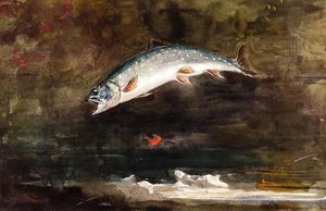 Winslow Homer - Jumping Trout