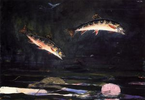 Winslow Homer - Leaping Trout 1