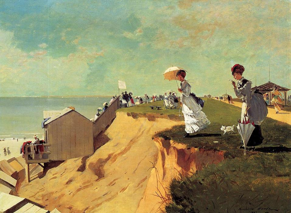 Long Branch, New Jersey, Oil On Canvas by Winslow Homer (1836-1910, United States)