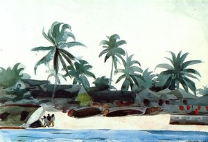 Winslow Homer - Negro Cabins and Palms