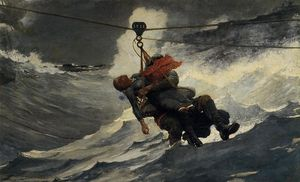 Winslow Homer - The Life Line - (Buy fine Art Reproductions)