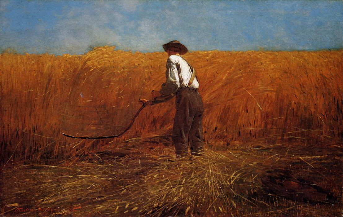 The Veteran in a New Field, Oil On Canvas by Winslow Homer (1836-1910, United States)