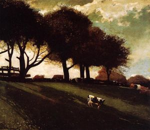 Winslow Homer - Twilight at Leeds, New York