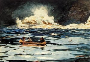 Winslow Homer - Under the Falls, the Grand Discharge