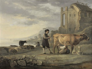 Aelbert Jacobsz Cuyp - Landscape-with-Cattle