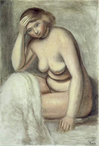 Blonde Model by André Derain (1880-1954, France) | Painting Copy | WahooArt.com