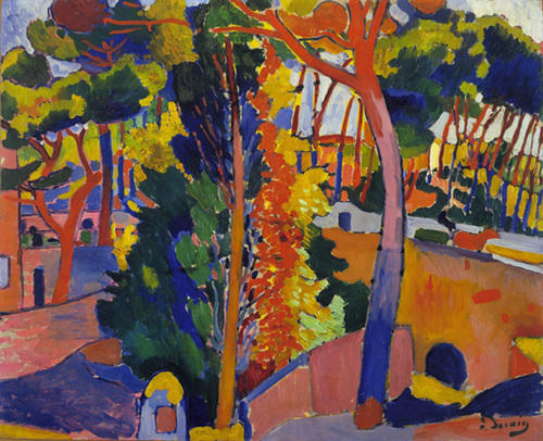 Bridge over the Riou, Oil by André Derain (1880-1954, France)