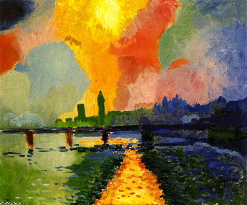 Charing Cross Bridge, Oil On Canvas by André Derain (1880-1954, France)