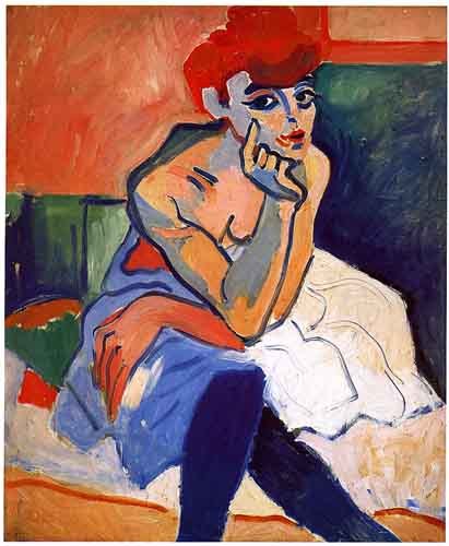Dancer by André Derain (1880-1954, France) | Famous Paintings Reproductions | WahooArt.com