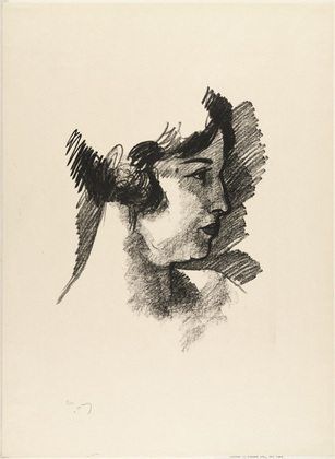 Head of a Woman in Profile from the portfolio Metamorphoses 1 by André Derain (1880-1954, France) | WahooArt.com