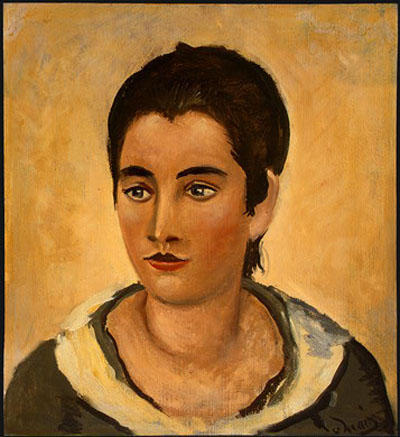 Head of a Woman by André Derain (1880-1954, France) | WahooArt.com