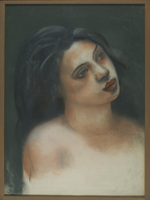 Head of woman, Oil by André Derain (1880-1954, France)