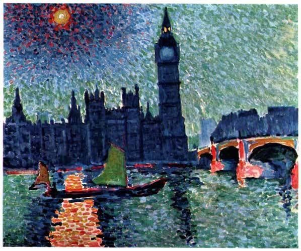 Houses of Parliament, Oil by André Derain (1880-1954, France)