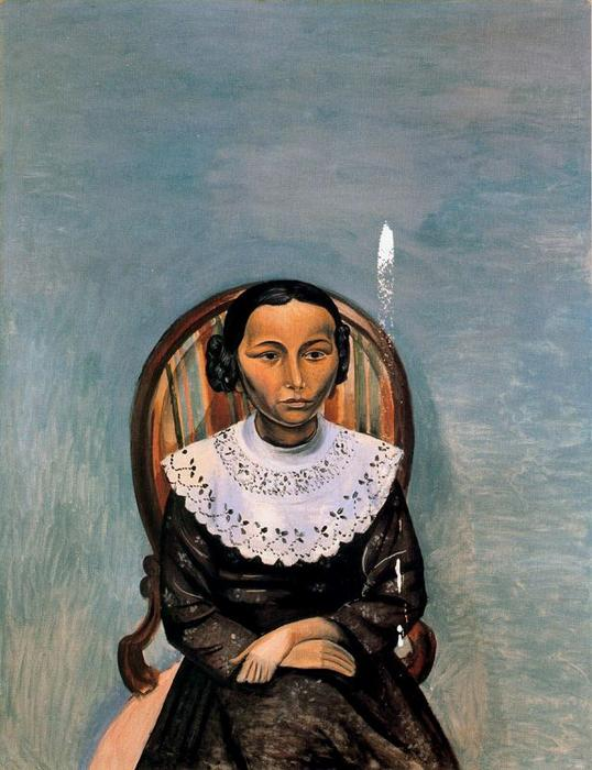 Portrait of a Young Girl in Black, 1914 by André Derain (1880-1954, France) | Painting Copy | WahooArt.com