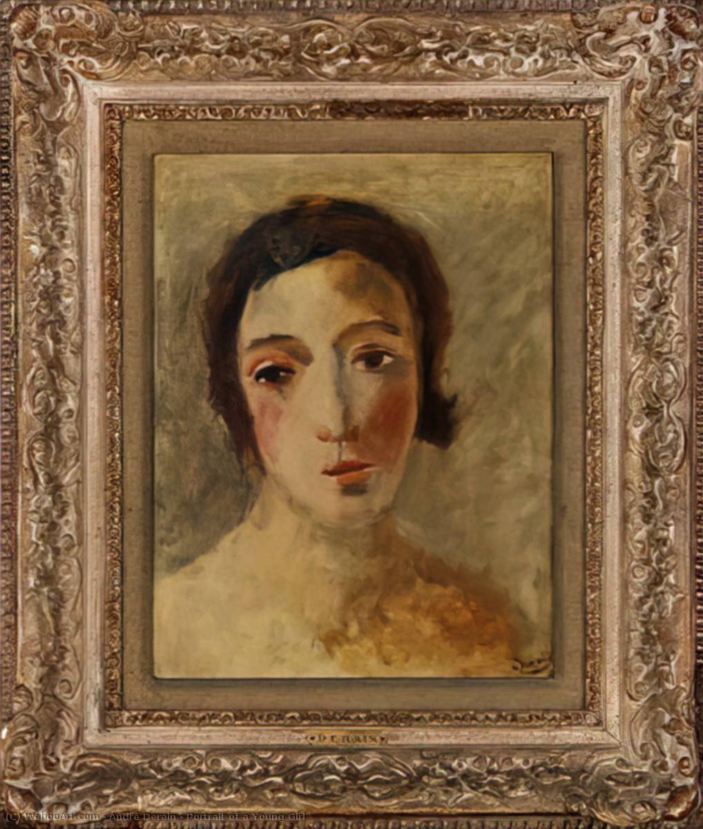 Portrait of a Young Girl, Oil by André Derain (1880-1954, France)