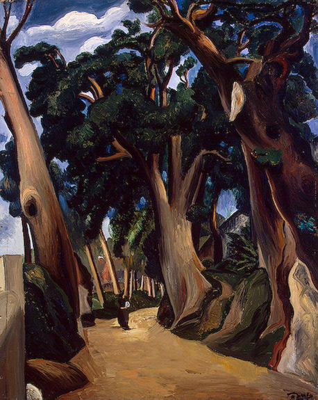 Road to Castel Gandolfo, Oil by André Derain (1880-1954, France)