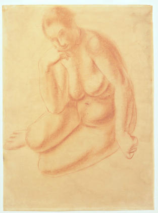 Seated Nude, Oil by André Derain (1880-1954, France)