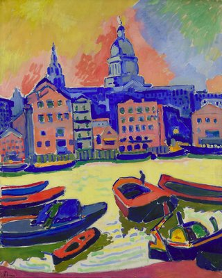 St. Paul`s Cathedral seen from the Thames by André Derain (1880-1954, France) | Museum Quality Reproductions | WahooArt.com