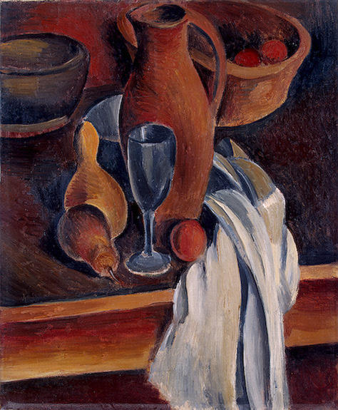 Still Life with Earthenware Jug and White Napkin by André Derain (1880-1954, France) | Art Reproduction | WahooArt.com