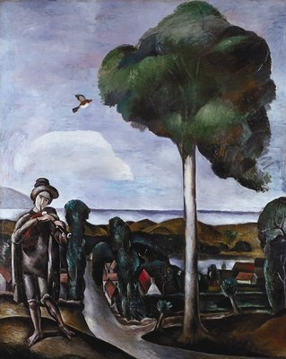 The Bagpiper, Oil by André Derain (1880-1954, France)